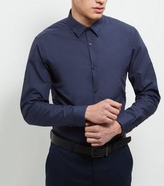 New Look Navy Cotton Mix Long Sleeve Shirt 3727898 Cover formal shirts for work and occasion finishes - try in navy hues throughout the season.- Collared neck- Button front fastening- Simple long sleeves- Casual fit that is true to size- Soft cotton b http://www.MightGet.com/march-2017-1/new-look-navy-cotton-mix-long-sleeve-shirt-3727898.asp