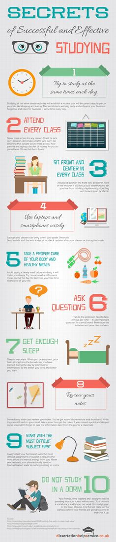 Secrets of Successful and Effective Studying Infographic