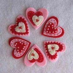 Offset center hearts