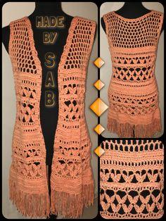 Vestje (2e van deze kleur) Lammy Victory - patroon: www.garnstudio.com - Summer Bliss Vest - #crochet  Made by Sab