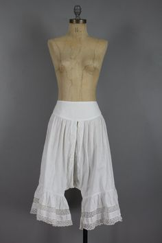 Edwardian White Pantaloons Bloomers . Antique by snootieseconds, $69.99