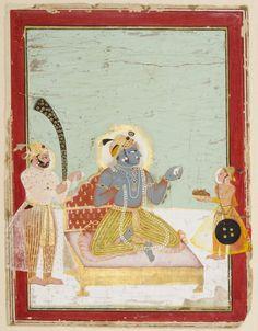 Philadelphia Museum of Art - Collections Object : Maharao Bhim Singh of Kota Attending Krishna as Brijnathji