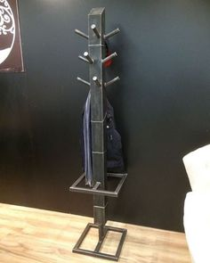 Steel coat rack