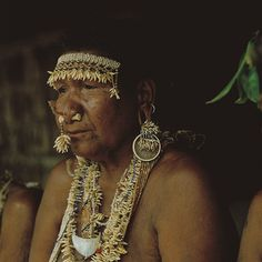 "Solomon Islands | ""Elder woman, adornment"". Santa Ana-Makira. 