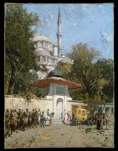 Alberto Pasini-A Mosque-1782 - the mosque of sultan ahmad - istanbul