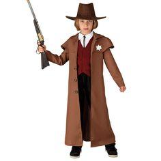 Πιστολέρο κλασική αποκριάτικη στολή Γουέστερν για αγόρια. Η Στολή Περιλαμβάνει: μακρύ Σακάκι, Γιλέκο, Μπλαστρόν. Δεν Περιλαμβάνει: Όπλο, Καπέλο και Παντελόνι. Για παιδιά ηλικίας έως δώδεκα ετών. Westerns, Chapeau Cowboy, Costume, Sheriff, Coat, Jackets, Fashion, Carnival, Red Vest