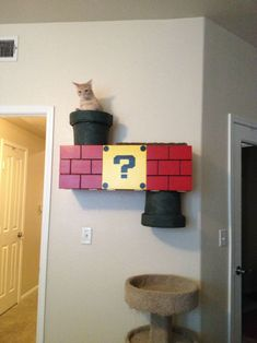 Nintendo Themed Cat Climber - Awesome!  Holy goodness i am going to home depot right now!  I must have it.