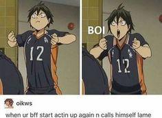Haikyuu - Yamaguchi is your boi - COSPLAY IS BAEEE! Tap the pin now to grab yourself some BAE Cosplay leggings and shirts! From super hero fitness leggings, super hero fitness shirts, and so much more that wil make you say YASSS! Kagehina, Kuroo, Kenma, Nishinoya, Haikyuu Tsukishima, Hinata, Haikyuu Funny, Haikyuu Fanart, Anime Tumblr