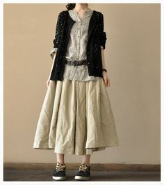 Rice Sun Skirt Causel Loose Cotton Big Hem Long Women's Skirt Soft Cotton Skirt Dress -- Women Clothing--2colours on Etsy, £35.93