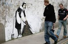 street gay wall decor graffiti art painting 160cm custom banksy police kissing