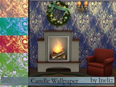 Sims 4 CC's - The Best: Candle Wallpaper by Ineliz