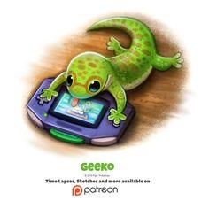 Daily 1347. Geeko by Cryptid-Creations.deviantart.com on @DeviantArt