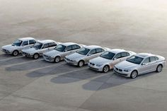 All generations of BMW 5 series