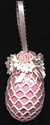 Pretty crochet Victorian Easter Egg Ornament, FREE PATTERN