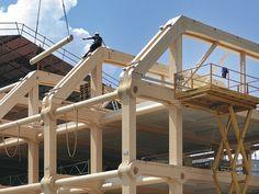 Technik: Siebengeschossiges Bürogebäude aus Holz in Zürich