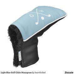 Light Blue Golf Clubs Monogram Golf Head Cover