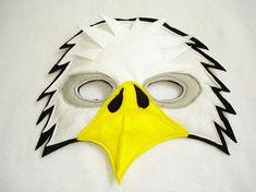 Águila calva infantil fieltro máscara