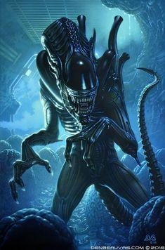 Alien by Denis Beauvais Alien 1979, Alien Film, Alien Art, Ellen Ripley, Xenomorph, Alien Creatures, Fantasy Creatures, Giger Alien, Alien Isolation