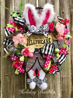 A personal favorite from my Etsy shop https://www.etsy.com/listing/574152610/mad-hatter-rabbit-wreath-mad-hatter