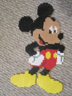 Mickey Mouse by perlerbeadcrafts, via Flickr