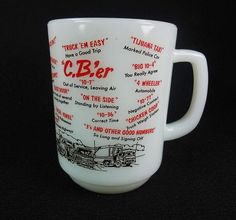 Anchor Hocking Fire King CB'er Phrases Coffee by RedThreadRetro