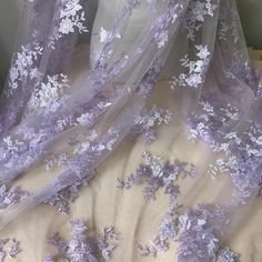 gowns Bridal Floral Fabric Lavender Lace Fabric for Bridesmaid Gown Prom Dress Lace Fabric Violet Aesthetic, Lavender Aesthetic, Aesthetic Colors, Flower Aesthetic, Aesthetic Pictures, Aesthetic Outfit, Aesthetic Pastel, Kpop Aesthetic, Mode Purple