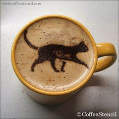 Cat of the Day Cappuccino Designs 06 (For those who cannot be trusted with cappuccino designs)