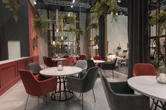 Cosy lounge area as part of the 1400 m2 large exhibition stand for Furninova at IMM 2017 in Cologne. www.ambiente.dk