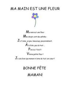 Fête des mamans - Comptine maternelle Mothers Day Quotes, Happy Mothers Day, French Classroom, Behaviour Chart, French Lessons, Quote Of The Day, Gift Tags, Gifts, Recherche Google