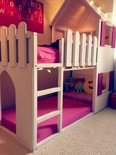 51 Cool Ikea Kura Beds Ideas For Your Kids Rooms. The Ikea beds are elegant furniture among the many product lines found at the Ikea stores in different countries. They are of Swinish design and are f. Kura Ikea, Ikea Bed, Ikea Bunk Bed Hack, Bunk Beds With Stairs, Kids Bunk Beds, Loft Beds, Loft Spaces, Small Spaces, Small Rooms