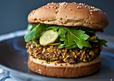 Black Bean and Pumpkin Burgers