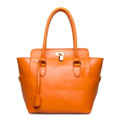 Hegins tote in orange from Shoedazzle.  $39.95.  Love it.  Structured, good size to carry files and notebooks from work.  This color makes it look more expensive than it is.