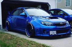 Sexy blue Subaru Impreza #WRX #STI #Stance
