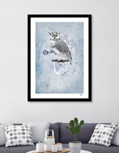 Discover «Owl Theory», Numbered Edition Fine Art Print by Liis Roden - From $20 - Curioos