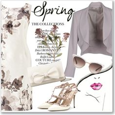 Sweet Spring Dresses by andrejae on Polyvore featuring мода, Jacques Vert, Xs Couture, Valentino, RED Valentino, Gucci and springdress