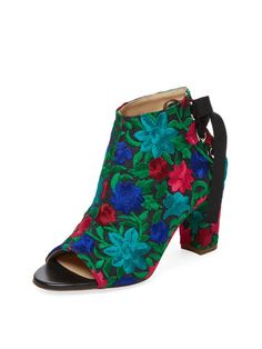 780b8a4aee58 Crayon Embroidered Peep-Toe Bootie by Jerome C. Rousseau at Gilt Fashion For  Petite