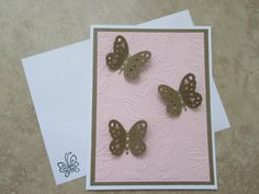 BUTTERFLY 3D All Occasion Greeting Card by PatsPaperCrafts on Etsy