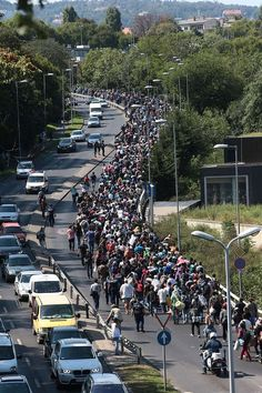 Refugees flowing into Europe