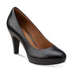 Brier Dolly Black Leather - Women's Collection - Clarks® Shoes Official Site