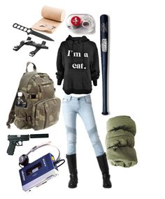 """Zombie Survival: Amateur"" by marshmallowkuini ❤ liked on Polyvore featuring Sony and Cold Steel"