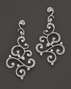 Diamond Earrings in 14K White Gold, .60 ct. t.w. - Earrings - Shop by Style - Fine Jewelry - Bloomingdale's