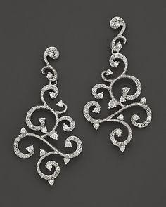 Diamond Earrings in 14K White Gold, .60 ct. t.w. - Earrings - Shop by Style - Fine Jewelry - Bloomingdale's