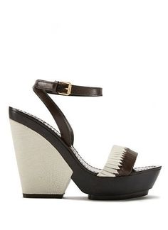 Tory Burch Bi-Color Woven Wedge Sandal