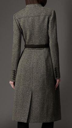 Wool Full Skirt Coat | Burberry
