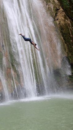 Waterfall diving in Samana Dominican Republic