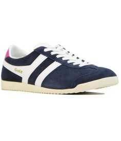Brand: Gola Womens. Key Points: Gola 'Bullet' Womens Retro Trainers in suede with leather trims. Co