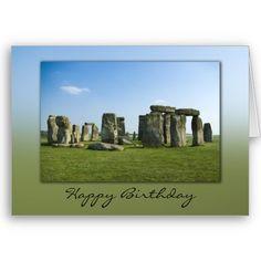 Stonehenge Birthday Card $3.35