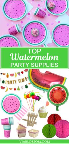Our Top Watermelon Party Supplies for a fabulous Summer Party!