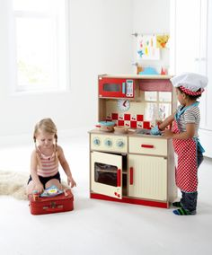 47aa49193b74 deluxe kitchen, 60cm wide, £40 Wooden Toy Kitchen, Wooden Toys, Gingham
