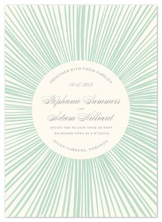 starburst- I really really like this invitation or maybe could be save the date bc so casual. But I love!